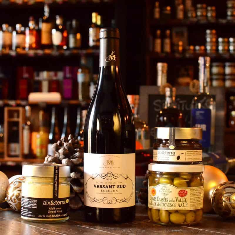 L'apéro Côté Sud ! Le Luberon version Marrenon accompagné de l'aïoli, de la tapenade et des fameuses olives cassées