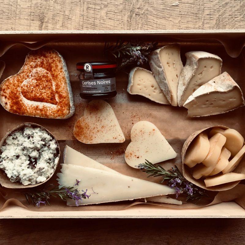 Le plateau de fromages pour la siant Valentin
