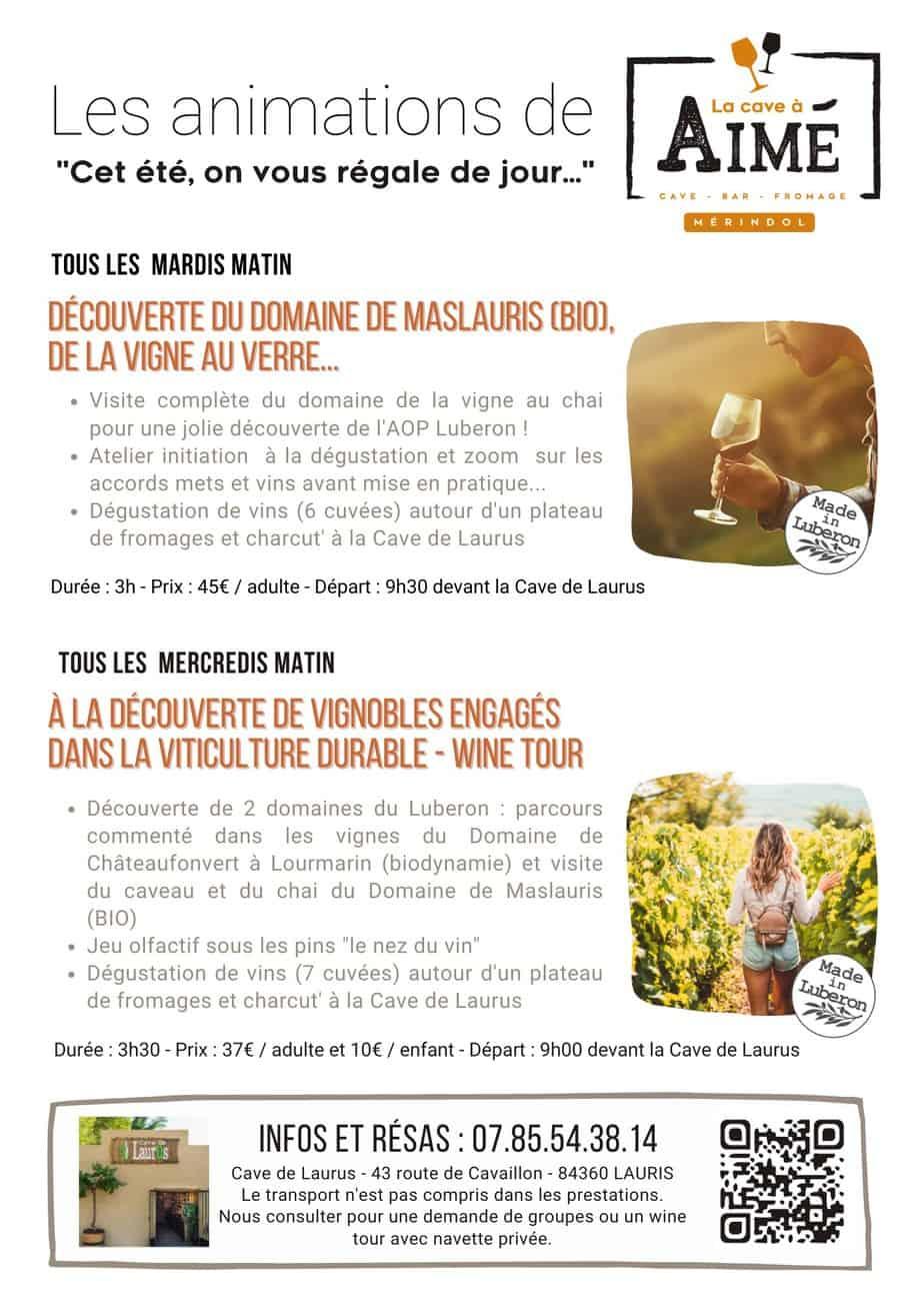Les wine tours Eté 2021